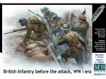 Master Box 1/35 British Infantry Before The Attack WWI Era Figures